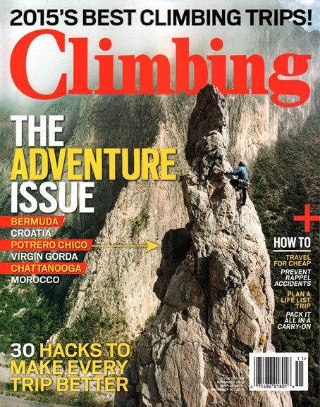 Climbing Magazine Cover - 11/1/2015