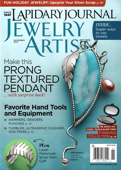 Lapidary Journal Jewelry Artist Cover - 11/1/2015