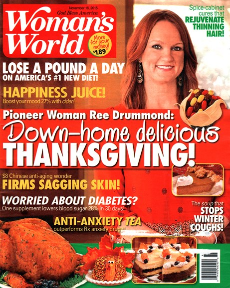 Woman's World Cover - 11/18/2015