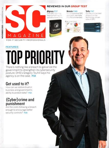SC Magazine - U.S. edition Cover - 11/1/2015