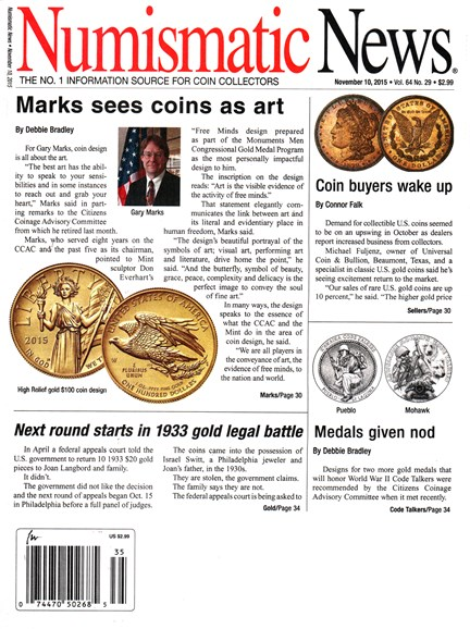 Numismatic News Cover - 11/1/2015