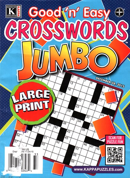 Good N Easy Crosswords Jumbo Cover - 12/28/2015