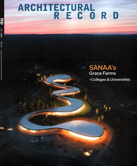 Architectural Record Cover - 11/1/2015