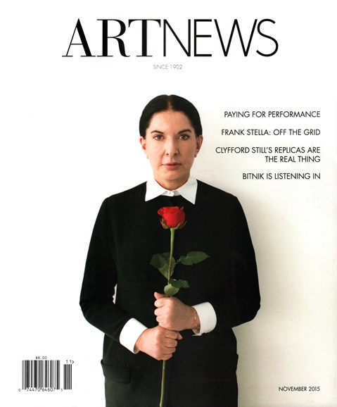 ARTnews Cover - 11/1/2015