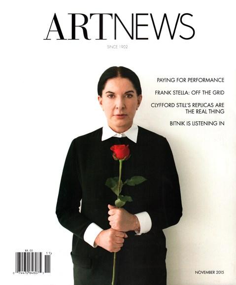 ARTnews Cover - 11/1/2015