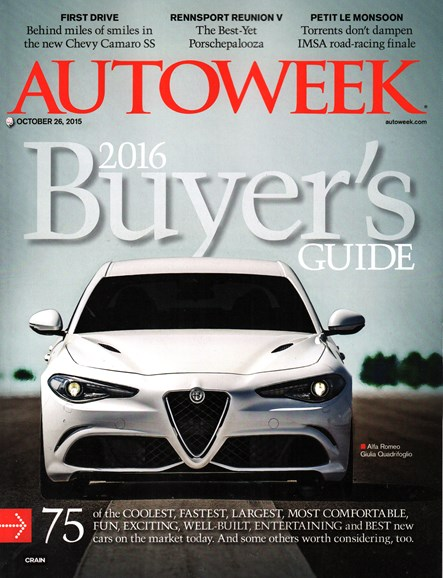 Autoweek Cover - 10/26/2015
