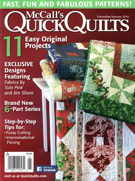 McCall's Quick Quilts Cover - 12/1/2015