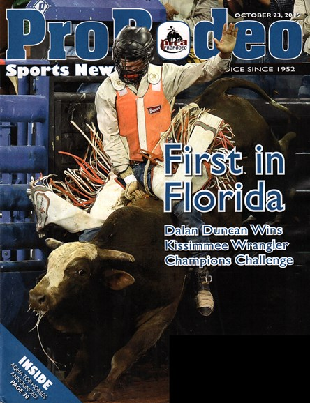 Pro Rodeo Sports News Cover - 11/23/2015
