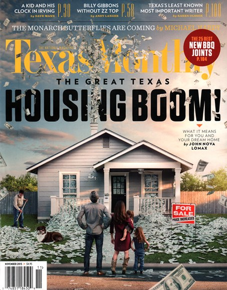 Texas Monthly Cover - 11/1/2015