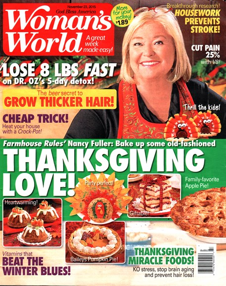Woman's World Cover - 11/23/2015