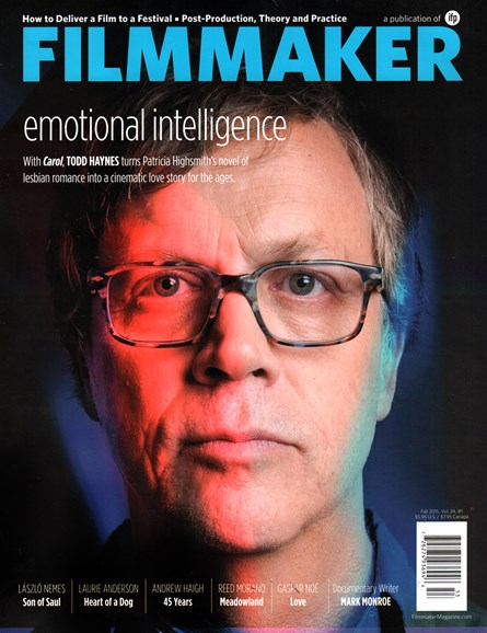 Filmmaker: The Magazine Of Independent Film Cover - 10/1/2015