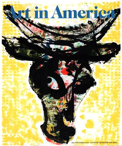 Art In America Cover - 11/1/2015