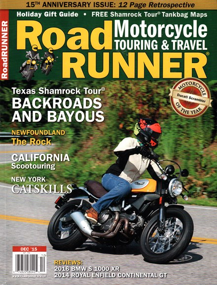 Road RUNNER Motorcycle & Touring Cover - 12/1/2015