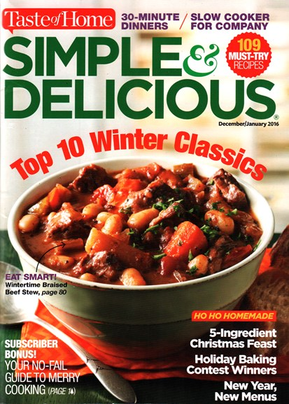 Simple & Delicious Cover - 12/1/2015