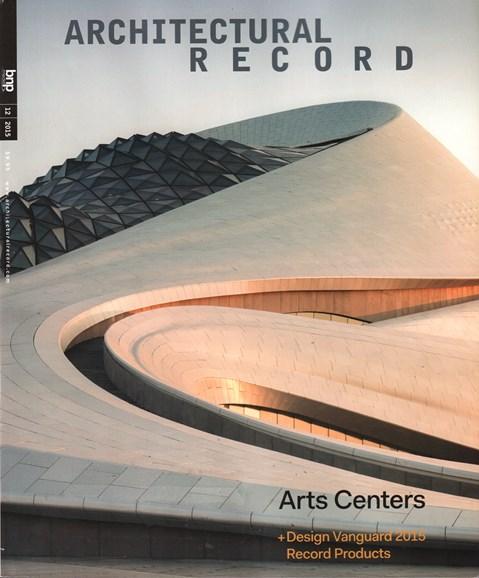 Architectural Record Cover - 12/1/2015