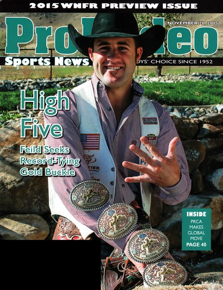 Pro Rodeo Sports News Cover - 11/20/2015