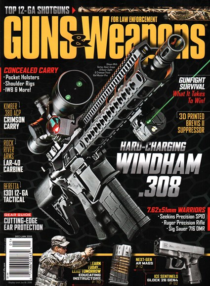 Guns & Weapons For Law Enforcement Cover - 12/1/2015