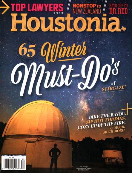 Houstonia Cover - 12/1/2015