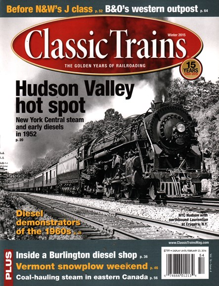 Classic Trains Cover - 12/1/2015
