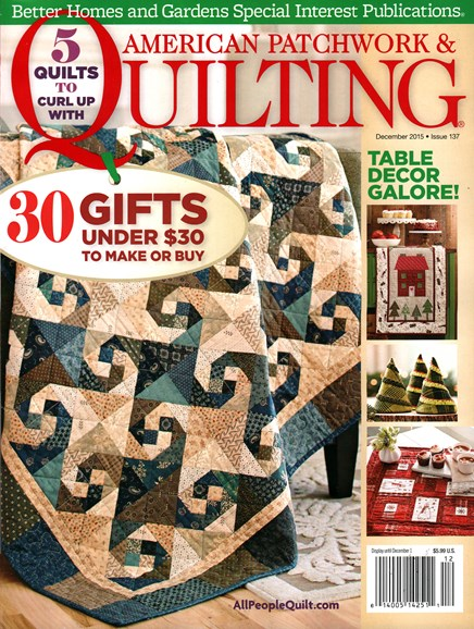American Patchwork & Quilting Cover - 12/1/2015