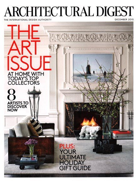 Architectural Digest Cover - 12/1/2015
