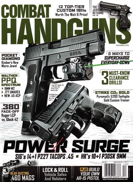 Combat Handguns Cover - 12/1/2015