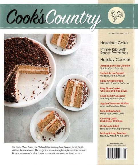 Cook's Country Cover - 12/1/2015