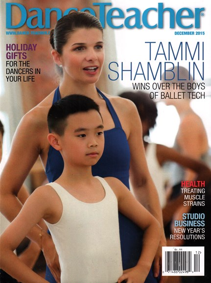 Dance Teacher Cover - 12/1/2015