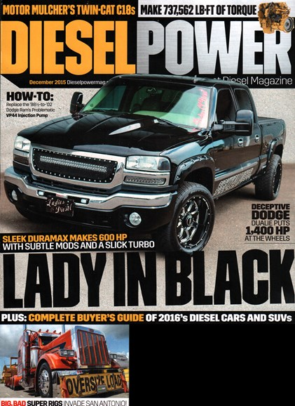 Diesel Power Cover - 12/1/2015
