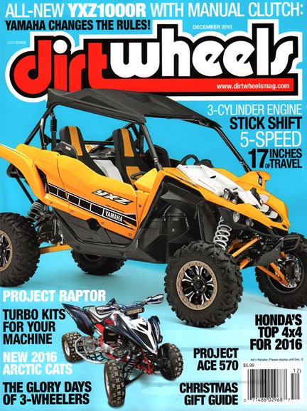 Dirt Wheels Cover - 12/1/2015