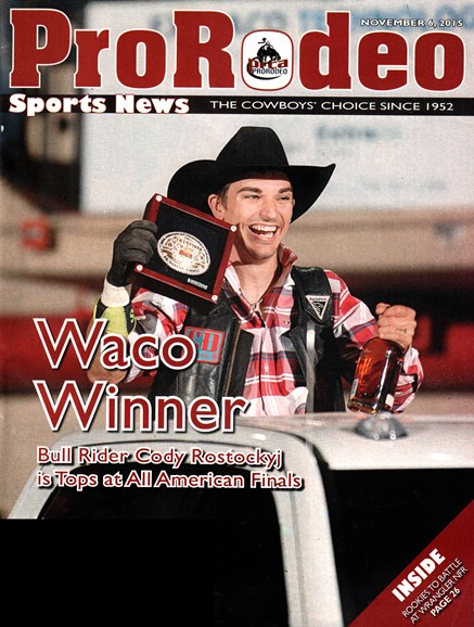 Pro Rodeo Sports News Cover - 12/6/2015