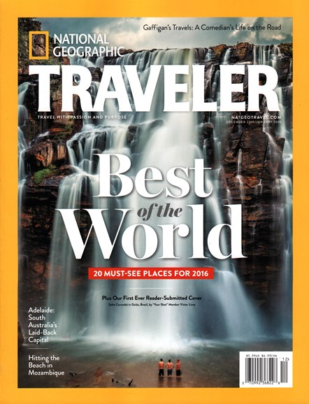 National Geographic Traveler Cover - 12/1/2015