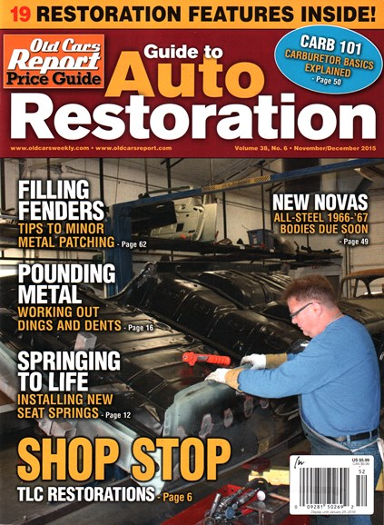 Old Cars Report Price Guide Cover - 11/1/2015