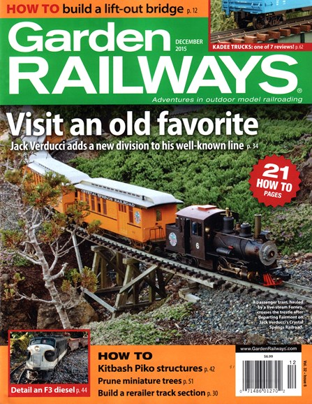 Garden Railways Cover - 12/1/2015