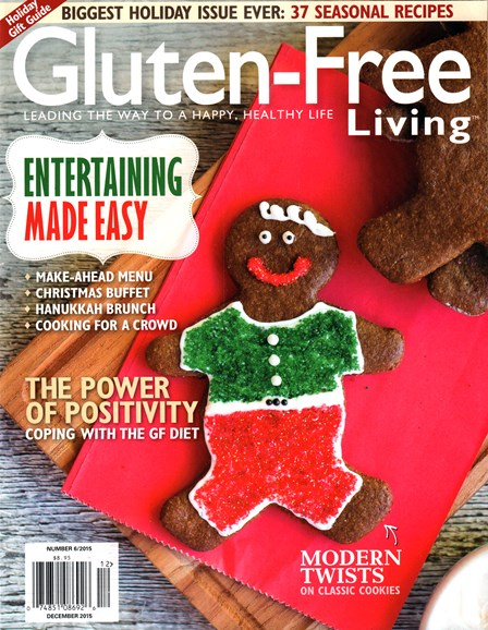 Gluten-Free Living Cover - 12/1/2015