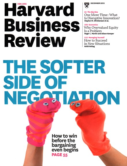 Harvard Business Review Cover - 12/1/2015