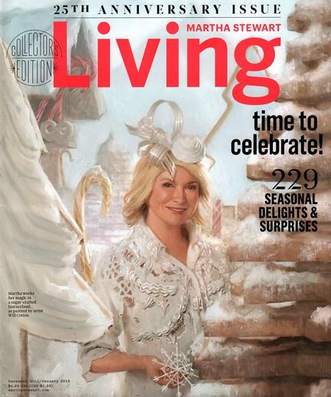 Martha Stewart Living Cover - 12/1/2015