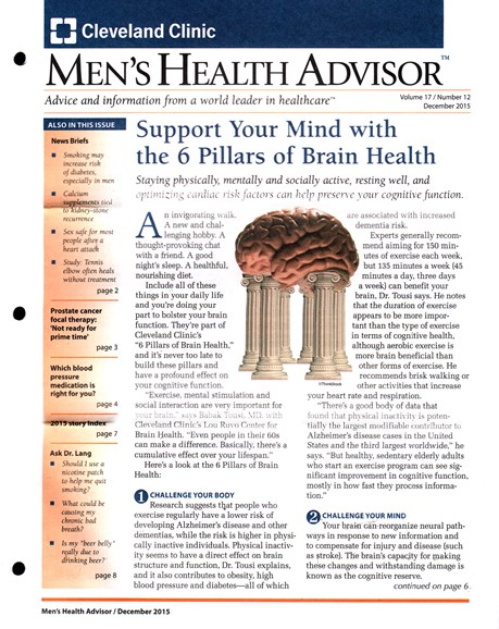 Men's Health Advisor Cover - 12/1/2015