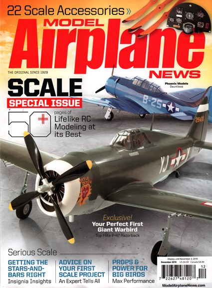Model Airplane News Cover - 12/1/2015