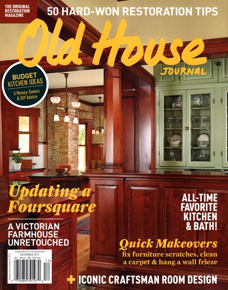 Old House Journal Cover - 12/1/2015