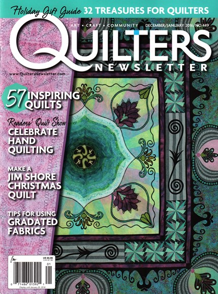 Quilter's Newsletter Cover - 12/1/2015