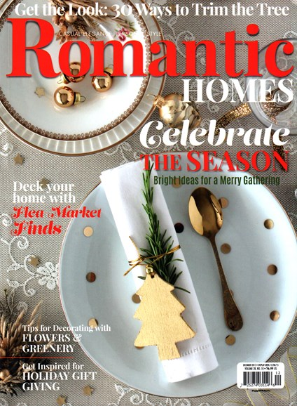 Romantic Homes Cover - 12/1/2015