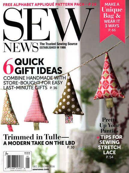 Sew News Cover - 12/1/2015