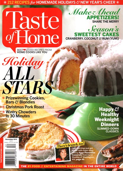 Taste of Home Cover - 12/1/2015
