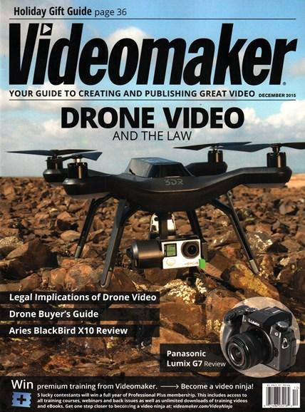 Videomaker Cover - 12/1/2015