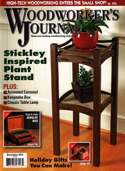 Woodworker's Journal Cover - 12/1/2015
