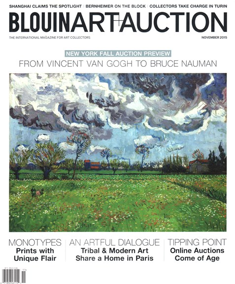 Blouin Art & Auction Cover - 11/1/2015