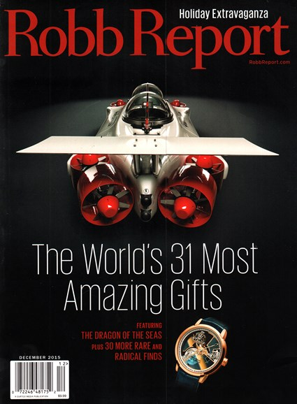 Robb Report Cover - 12/1/2015