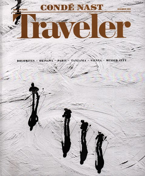 Condé Nast Traveler Cover - 12/1/2015