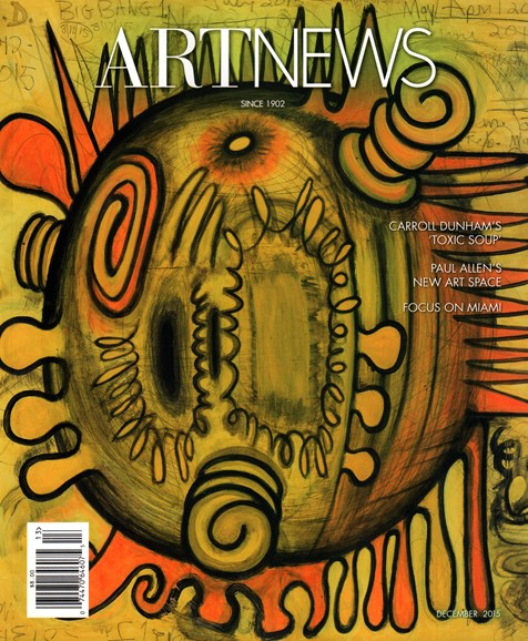 ARTnews Cover - 12/1/2015
